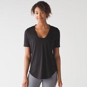 Lululemon Love Tee Black V Neck Shirt